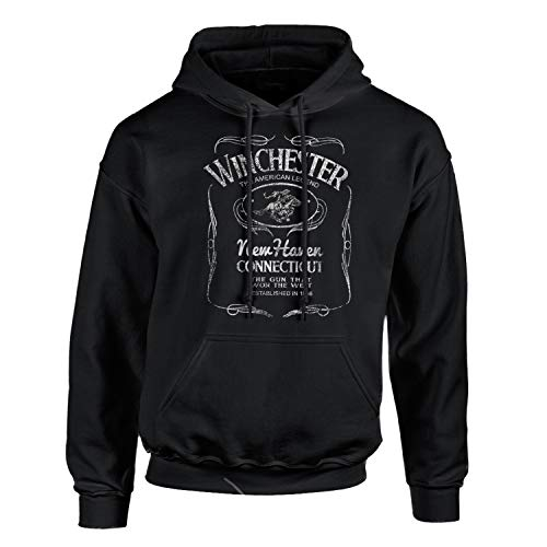 Winchester Western PosterHoodie Pullover Fleece for Men - Sweatshirt, Gift, Cotton Poly Blend, Ultra Soft by Winchester