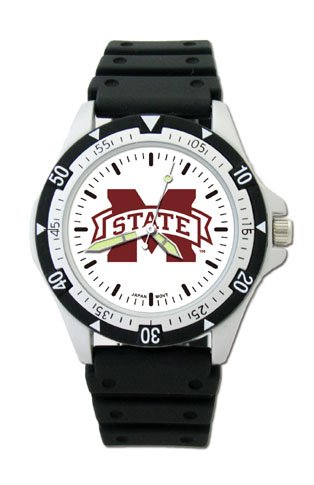 Watches College Bulldogs Mississippi State (LogoArt NCAA Mississippi State Bulldogs Option Model Sport Watch)