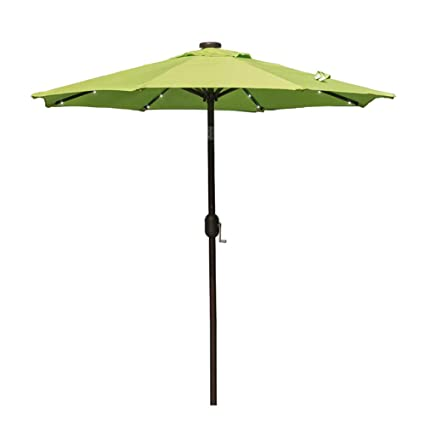 Charmant Sundale Outdoor 7 Ft Solar Powered 24 LED Lighted Patio Umbrella Table  Market Umbrella With Crank