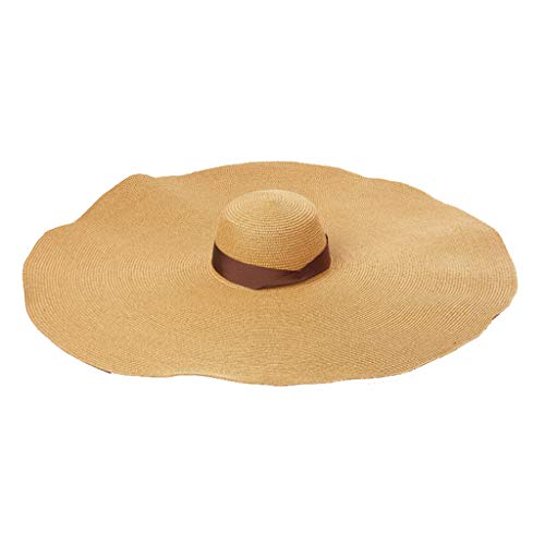 hositor Sun Hats for Women, Fashion Large Sun Hat Beach Anti-UV Sun Protection Foldable Straw Cap Cover