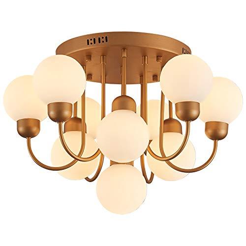 Eurotondisplay XW818-10 E14 Deckenlampe Leuchtmittel inkl. Lichtfarbe warmweiß kaltweiß Schalter umändern Fassung Luxuriös Lüster Deckenleuchte Leuchte Hängend Wohnzimmer Schlafzimmer