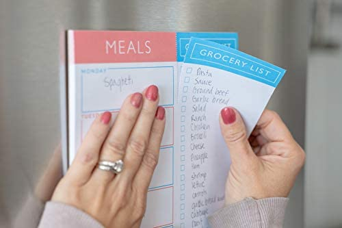Sweetzer & Orange Meal Planner Pad | 7x10 inch Notepad for Organized Weekly & Daily Planning | Tear-Off Grocery List Checklist for Convenient Shopping | Magnetic Notepads for Refrigerator Door 4