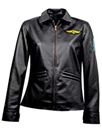 ccb253c1d Top Gun Women's Flight Pilot Black Leather Jacket, XXS-3XL