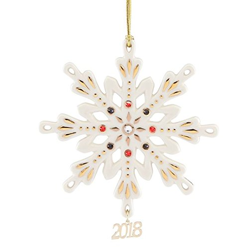 2018 Annual Gemmed Snowflake Ornament by (Lenox Annual Ornaments)