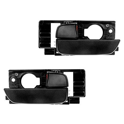 Front Textured Black Inside Door Handle Pair Set of 2 for 07-11 Accent Hatchback