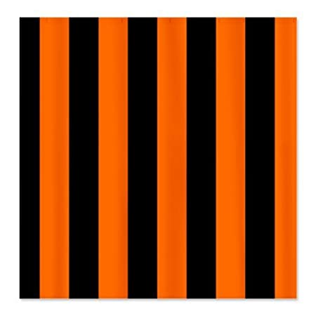 CafePress Black And Orange Striped Shower Curtain