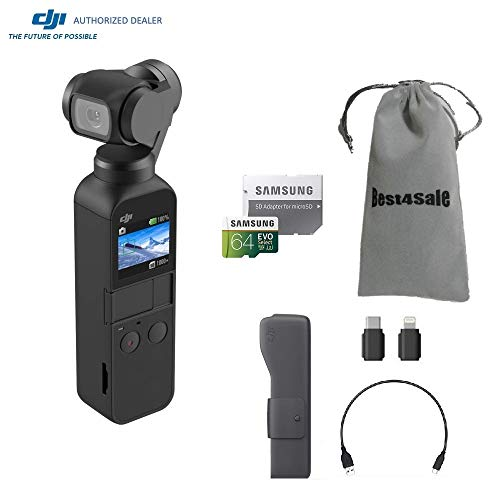 DJI Osmo Pocket Gimbal 3-Axis Stabilized Handheld Camera wit
