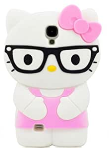 My8 Pink Samsung S IV i9500 Cover Lovely 3D Cartoon Soft Silicone Glasses Hel Case for Samsung Samsung Galaxy S4 i9500