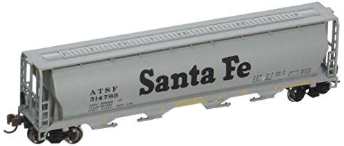 Bachmann Industries Inc. Canadian 4-Bay Cylindrical Grain Hopper Santa Fe - N Scale
