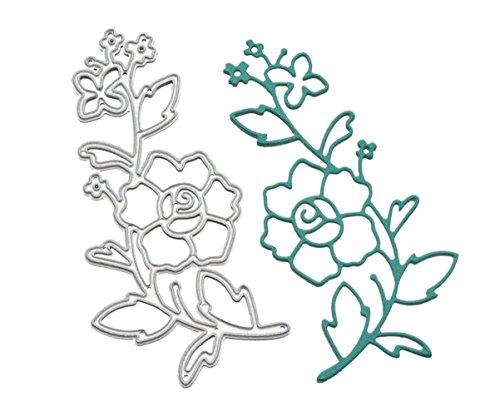Metal Cutting Dies Stencil Template for DIY Scrapbook Album Paper Card Craft Decoration (Flower 2)