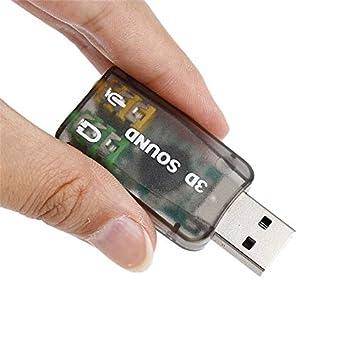 Battle of the peak Tarjeta de Sonido USB 1 PC Tarjeta de Audio 3D ...