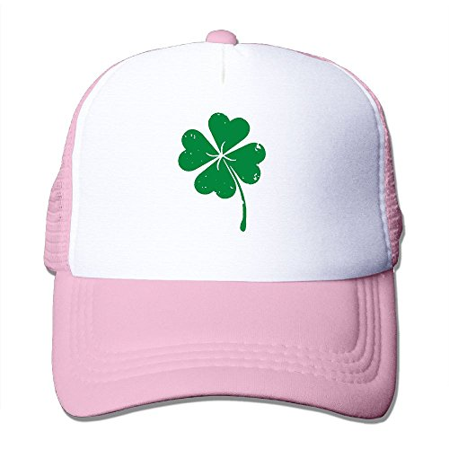 AKQQ0XXA Custom Geek Unisex TeeStars - Four-Leaf Clover - Saint Patricks Day Irish Baseball Hats Pink ()