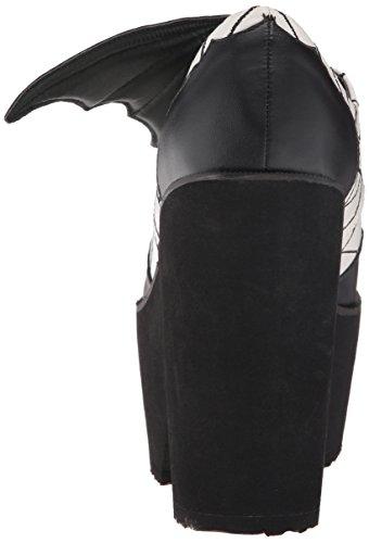 Ijzeren Vuist Womens Daytime Sleeper Stomper Mule Black / White