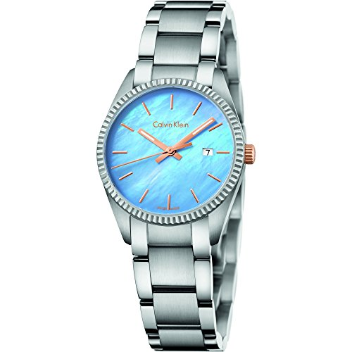 - Calvin Klein Alliance Mother Of Pearl Dial Stainless Steel Ladies Watch K5R33B4X