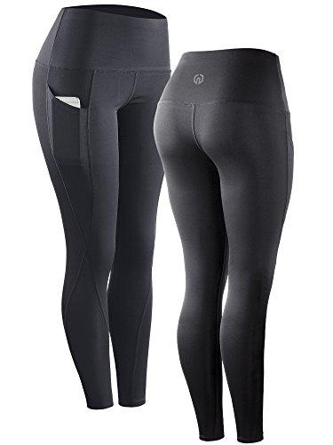 Neleus 2 Pack Tummy Control High Waist Running Workout Leggings,9017,2 Pack,Grey,Blue,US S,EU M by Neleus (Image #1)