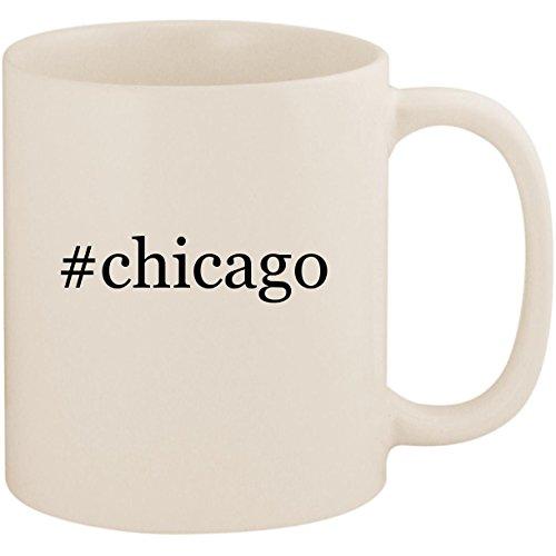 #chicago - 11oz Ceramic Coffee Mug Cup, White