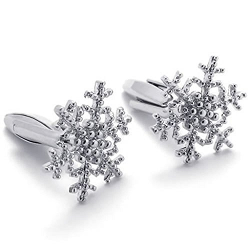 Epinki Men's Stainless Steel Cufflinks Silver,Cufflinks for sale  Delivered anywhere in Canada