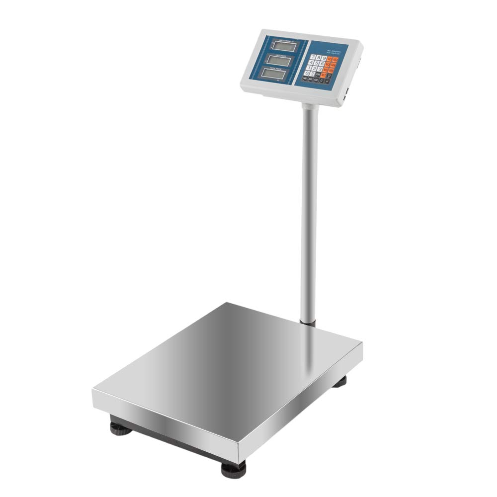 660Lbs Weight Computing Digital Floor Platform Scale Stainless Steel Postal Shipping Mailing