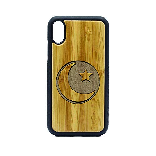 Islam Crescent Moon - iPhone XR CASE - Bamboo Premium Slim & Lightweight Traveler Wooden Protective Phone CASE - Unique, Stylish & ECO-Friendly - Designed for iPhone XR