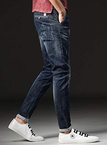 Respirables Ufige Blau Aire Cómodos Fashion Al Verano Deportes Jeans Hombres Inferiores Jóvenes Libre Elásticos Skinny Hombres Hombres Lannister Partes Popular 4wqSZ