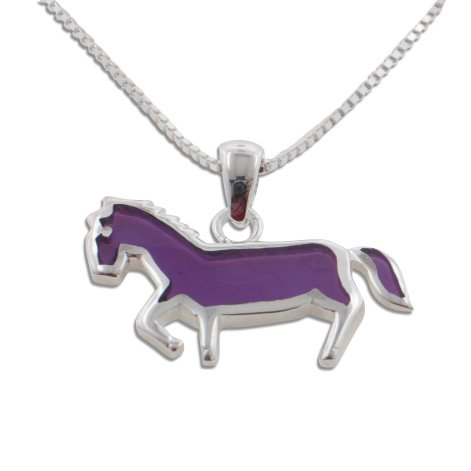 Child or Kids Purple Horse Pen