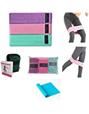 Resistance Bands Set Resistance Bands Booty Bands, Exercise Bands Set Workout Bands Hip Bands Fitness Band, Pack of 3 Plus Professional Latex Elastic Bands Home Exercise Strength Training