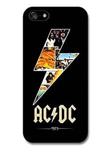 AMAF ? Accessories ACDC Lighting and Logo 1973 Black Background Case For Iphone 4s Cover