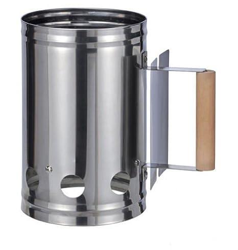 Parrilla XXL Arranque De Carbón Encendedor de Carbón Encendedor para Parrilla estufa de encendido ACERO inox. con mango: Amazon.es: Electrónica