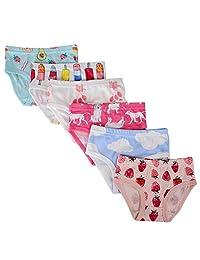 MeterMall 12PCS//Set Children Girls Underpants Cotton Briefs Cute Cartoon Underwear Panties