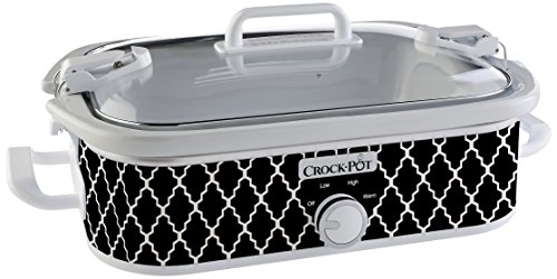 Crock-Pot 3.5-Quart Casserole Crock Manual Slow Cooker, Black and White (Crock Pot Slow Cooker Bags)