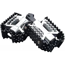 DK Custom Products TRIPLE TRAP CUSTOM FOOT PEGS ~ Black & Silver Harley Motorcycle Foot Pegs DK-BTT-CFP