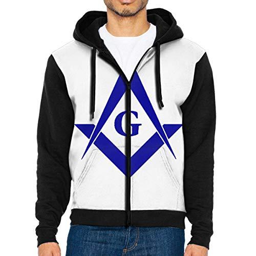 Men's Freemason Full Zip Hoodie Jackets Hooded Sweatshirt