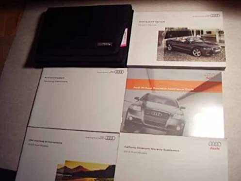 2010 audi a5 cabriolet owners manual audi amazon com books rh amazon com 2010 audi a5 cabriolet owners manual 2010 audi a5 convertible owners manual