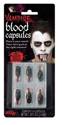 Vampire Blood Capsules - 6 Pack - Halloween Makeup -