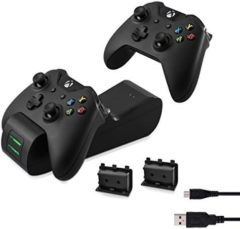 kwmobile Estación de Carga rápida Compatible con Xbox One y One S ...