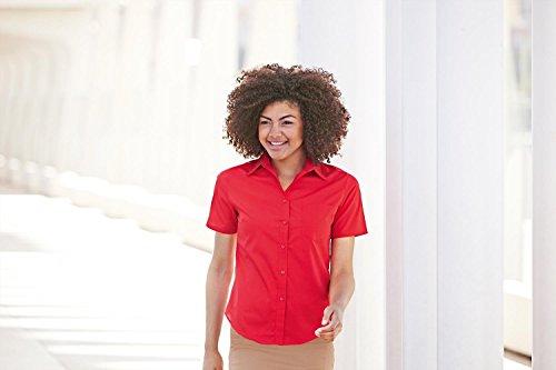 Fruit Of The Loom- Camisa de manga corta de popelina para mujer negro