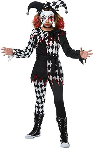 Creepy Jester Girl Kids Costume - Jester Girl Costumes