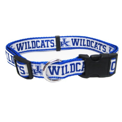 Mirage Pet Products Kentucky Wildcats Collar for Dogs and Cats, Medium