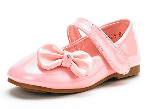 DREAM PAIRS Angel-5 Adorable Mary Jane Side Bow Buckle Strap Ballerina Flat (Toddler/Little Girl) ()