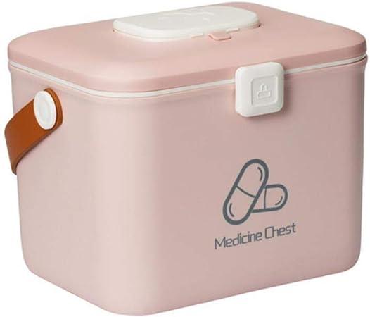 AZi Caja de Almacenamiento de Medicina de plástico Kit de hogar Herramienta de Supervivencia de Emergencia de hogar al Aire Libre de Emergencia, Rosa, M: Amazon.es: Hogar