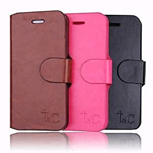 MOFY-Modelo del color s-lido de la PU Leather Case cuerpo completo para el iPhone 5/5s (colores surtidos)