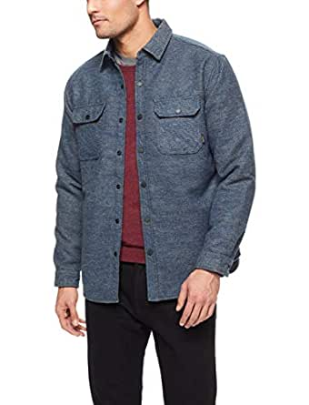 Burton Snowboards Men's Brighton Insulated Flannel Shirt, Mood Indigo Twill Yarn Dye, X-Large