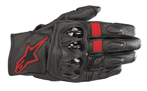 Celer v2 Leather Motorcycle Short-Cuff Glove (Large, Black Red Fluo)