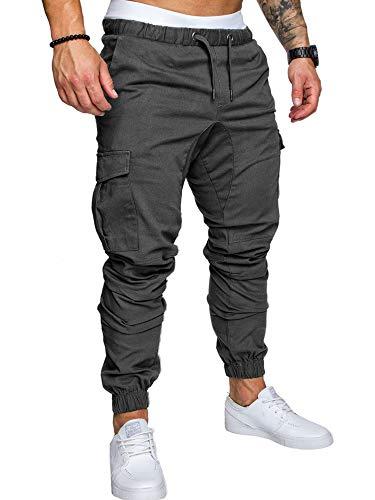 5c240341a9 Men's Cargo Pants Slim Fit Casual Jogger Pant Chino Trousers Sweatpants