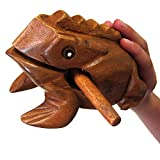 "Deluxe Large 6"" Wood Frog Guiro Rasp - Musical"