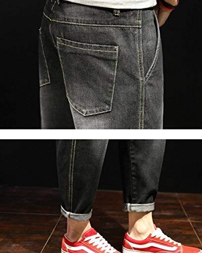 Normali Targogo Design Harem Slim Blackgrau Jeans Da Uomo Di Basic Pantaloni Fit Casual SxO8SqUn