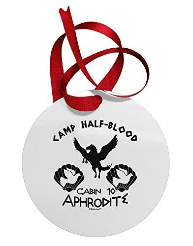 [TooLoud Cabin 10 Aphrodite Camp Half Blood Circular Metal Ornament] (God And Goddesses Costume Aphrodite)