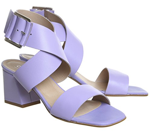 Block Lilac Clean Modena Leather Heels Office AqT4x4