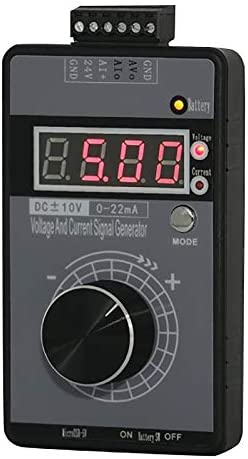 Nrpfell Simulateur Analogique de Tension de Courant R/éGlable de G/éN/éRateur de Signal Portable 0-4-20MA de Haute Pr/éCision avec Affichage une LED