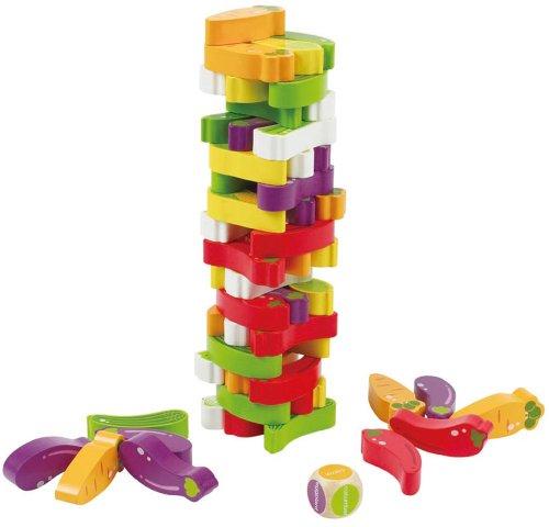 Award Winning Hape Stacking Veggies Kid's Wooden Skill Learning Game by Hape (Image #4)